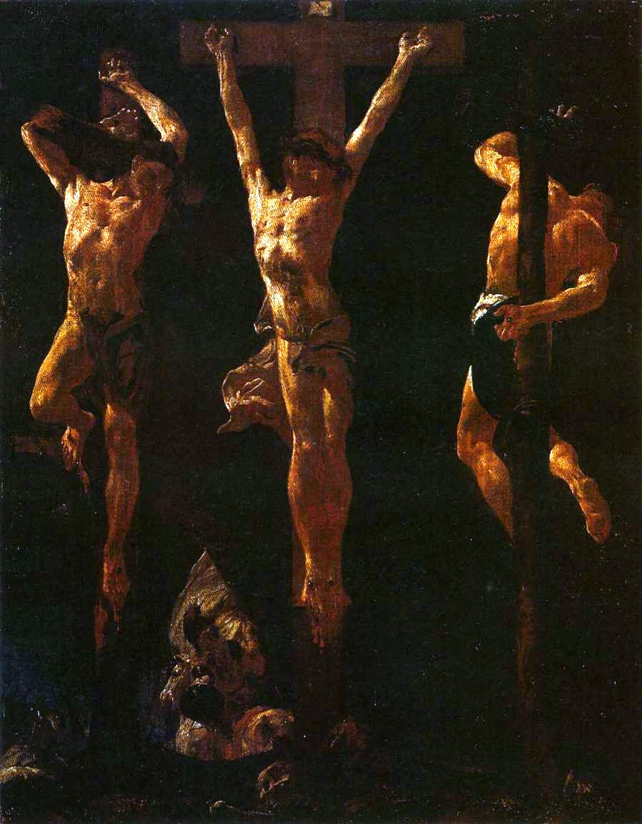 Christ Crucified between the Two Thieves by Giacomo Piazzetta, 1710