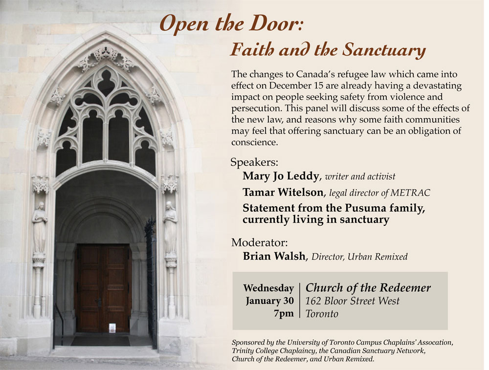Toronto Sanctuary Event